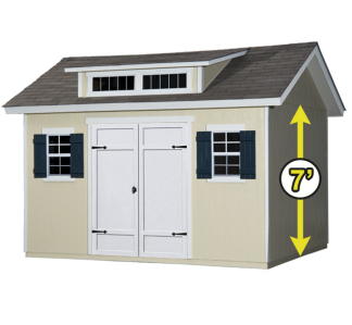 Wood storage shed kit 12 ft x 10 ft pre cut backyard tool for Pre built storage sheds
