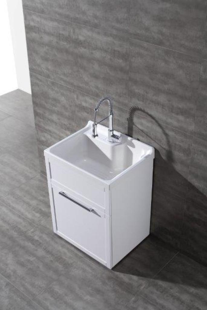 White Utility Sink : Details about Daisy White Vanity-style Utility Sink with Faucet by New ...