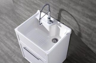 Utility Sink With Vanity : Details about Daisy White Vanity-style Utility Sink w/Faucet by New ...