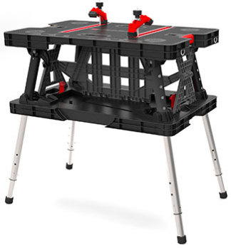 Keter 216558 Portable Folding Work Bench Table W