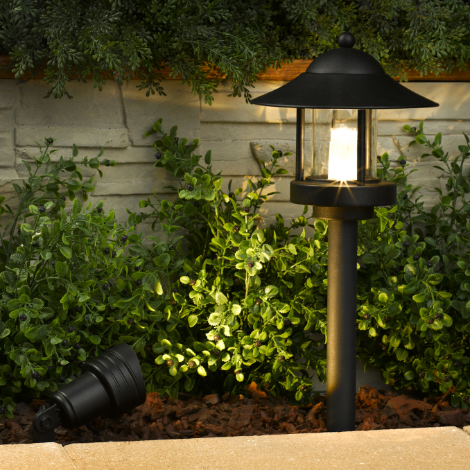 grande chaumont led low voltage landscape light set 6 path lights